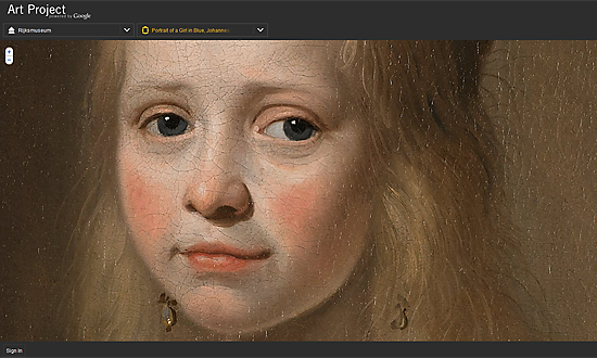 Portrait of a Girl in Blue (Johannes Cornelisz. Verspronck) : Rijksmuseum : Art Project, powered by Google